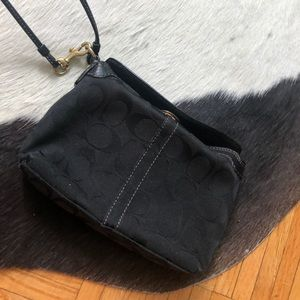Black coach wristlet/wallet